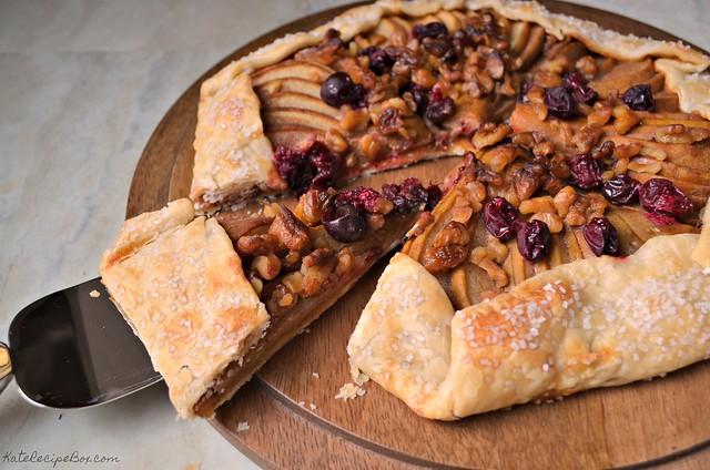 Caramel Cranberry Pear Tart 3