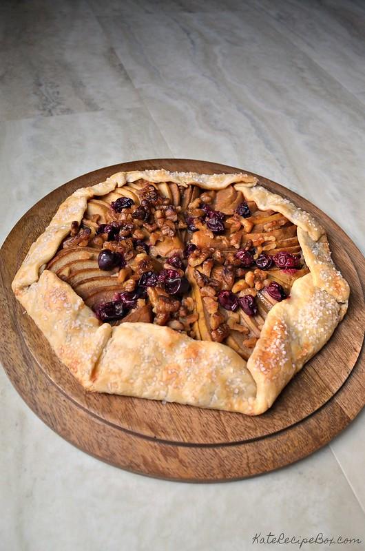 Caramel Cranberry Pear Tart 2