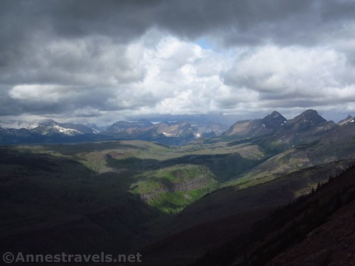 Views to the northwest from the Swiftcurrent Lookout, Glacier National Park, Montana