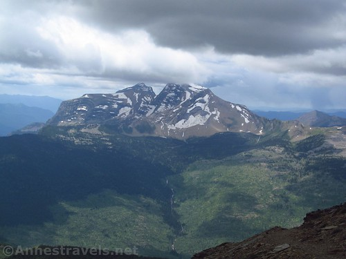 Heavens Peak from the Swiftcurrent Lookout Trail, Glacier National Park, Montana