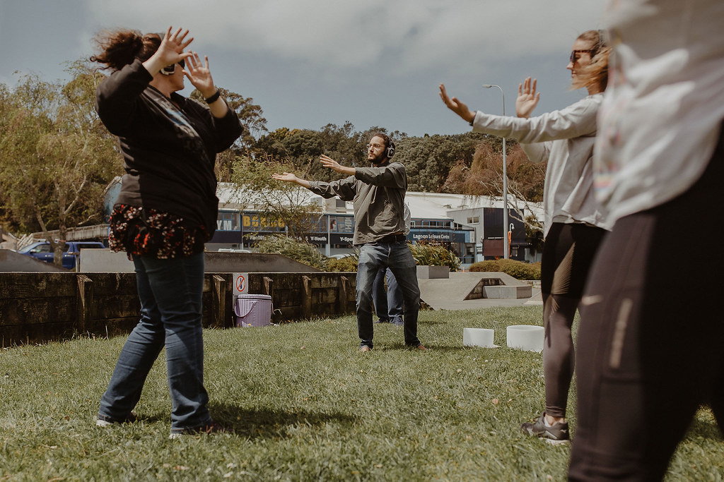 Qi Gong movement in the park - Auckland