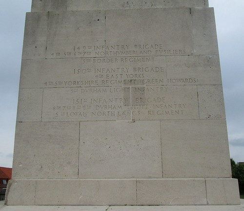 50th Northumbrian Division Memorial Inscriptions