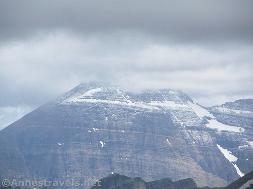 Freshly fallen snow - in July - near Swiftcurrent Pass, Glacier National Park, Montana