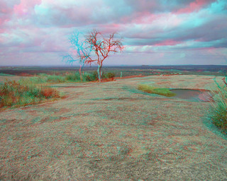 ENCHANTED ROCK TX TREE OF LIFE AT THE SUMMIT 3D RED CYAN ANAGYLPH