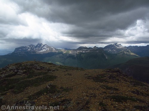 Views to the west from the Swiftcurrent Lookout Trail, Glacier National Park, Montana