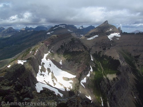 Iceberg Peaks from near the Swiftcurrent Lookout, Glacier National Park, Montana