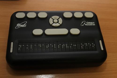 Braillský zápisník Orbit Reader 20