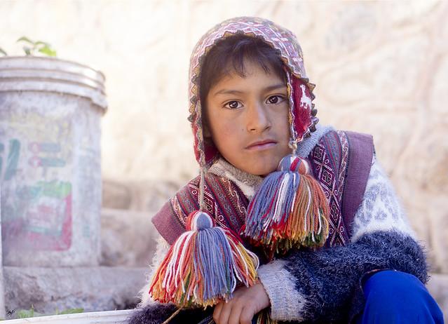 Niño en Chinchero - Perú