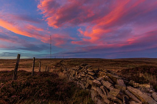 sunset sky skies moorland moors evening dramatic cloud clouds colour colours landscape landscapes uk northwest bolton goldenhour sony zeiss heather explore explored hike walking walk discover