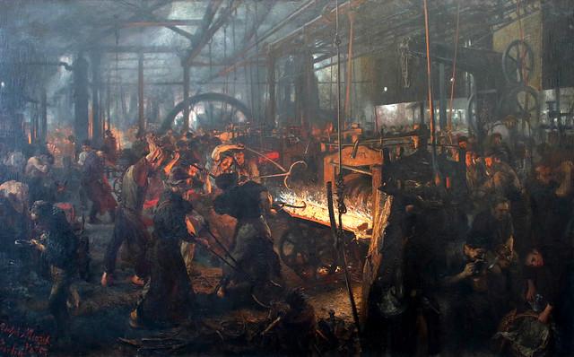 Adolph Friedrich Erdmann von Menzel (Breslavia, 8 dicembre 1815 – Berlino, 9 febbraio 1905) - i moderni ciclopi (Das Eisenwalzwerk - Moderne Cyklopen 1872-1875)  - Alte Nationalgalerie, Berlino