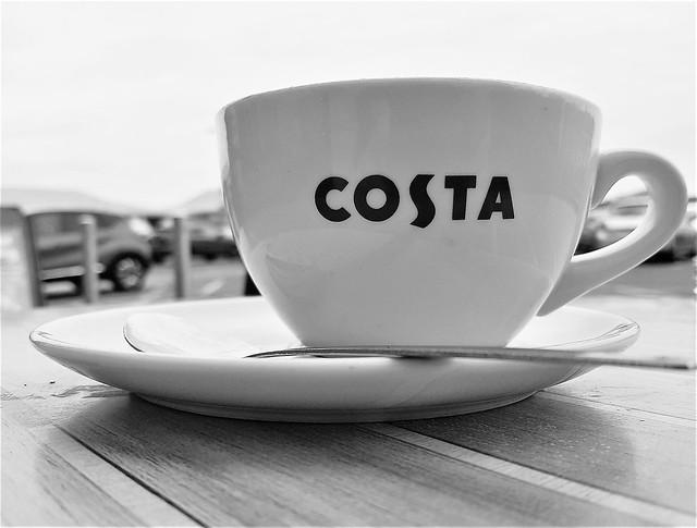 Costa Cup ; Coffee in Cramlington  Car Park
