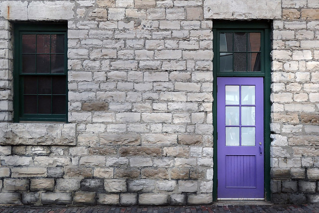 The purple door.