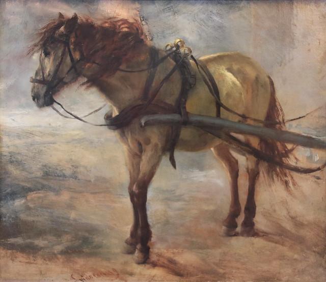 Adolph Friedrich Erdmann von Menzel (Breslavia, 8 dicembre 1815 – Berlino, 9 febbraio 1905) - Cavallo da Tiro - Karrengaul (1844)  - Alte Nationalgalerie, Berlino