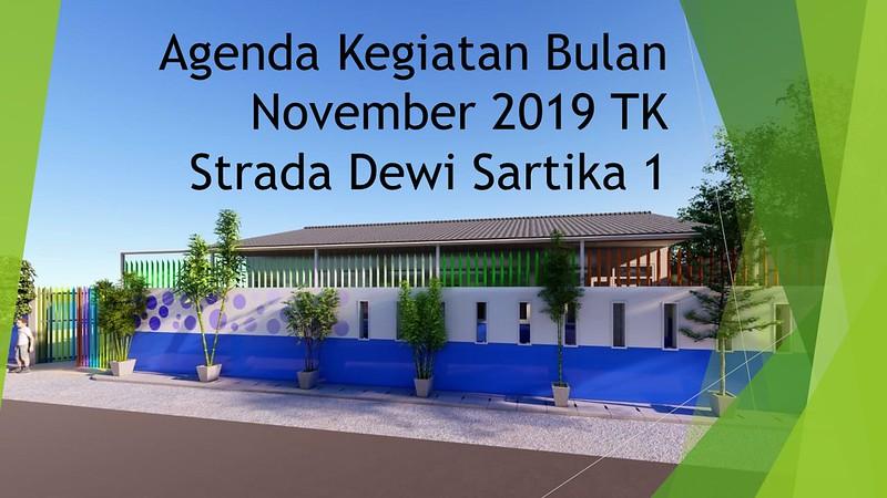 Agenda Kegiatan Bulan November 2019 TK Strada Dewi Sartika 1