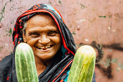 Smiling Woman Market Vendor, Chittagong Bangladesh