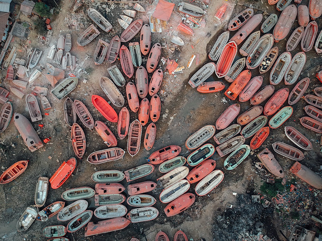 Escape Pods Salvaged From Shipbreaking, Chittagong Bangladesh