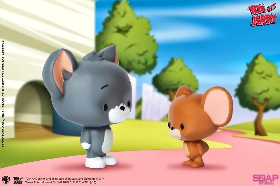歡喜冤家這次走溫馨風!Soap Studio《湯姆貓與傑利鼠》Chibi 湯姆貓 & 傑利鼠 大頭娃娃雙入組(Tom and Jerry)