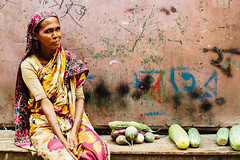 Woman Selling Eggplant, Chittagong Bangladesh