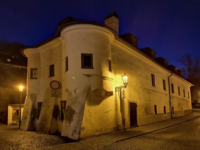 Kammerhofská Street, Banská Štiavnica at night