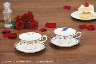 《JoJo的奇妙冒險 黃金之風》x Noritake 喬魯諾·喬巴拿&布魯諾·布加拉提 茶杯組(ジョジョの奇妙な冒険×Noritake ティーカップ&ソーサーセット)