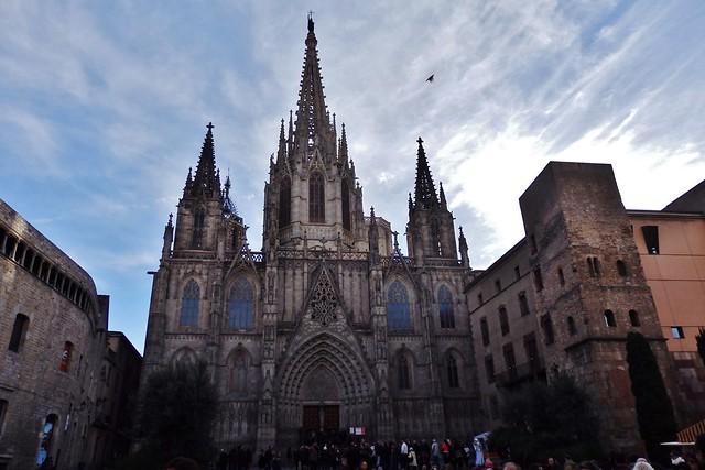 Barcelona - Catedral a contraluz.