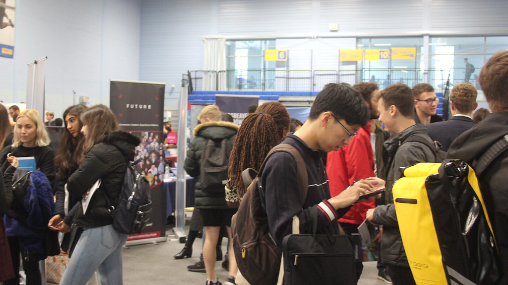 Students attending the Careers Fair