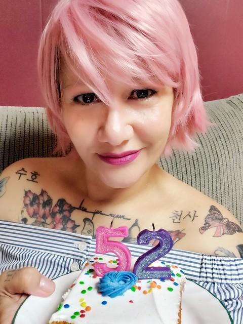 Happy 52nd birthday to me!  #JoanaAPark #author #Suho #SuhosOldestFan #OldestBunnyCitizen #breastcancersurvivor