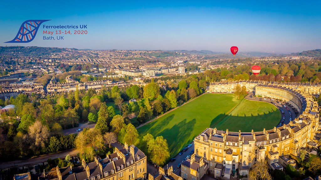 An aerial view of the Crescent and Victoria Park in Bath