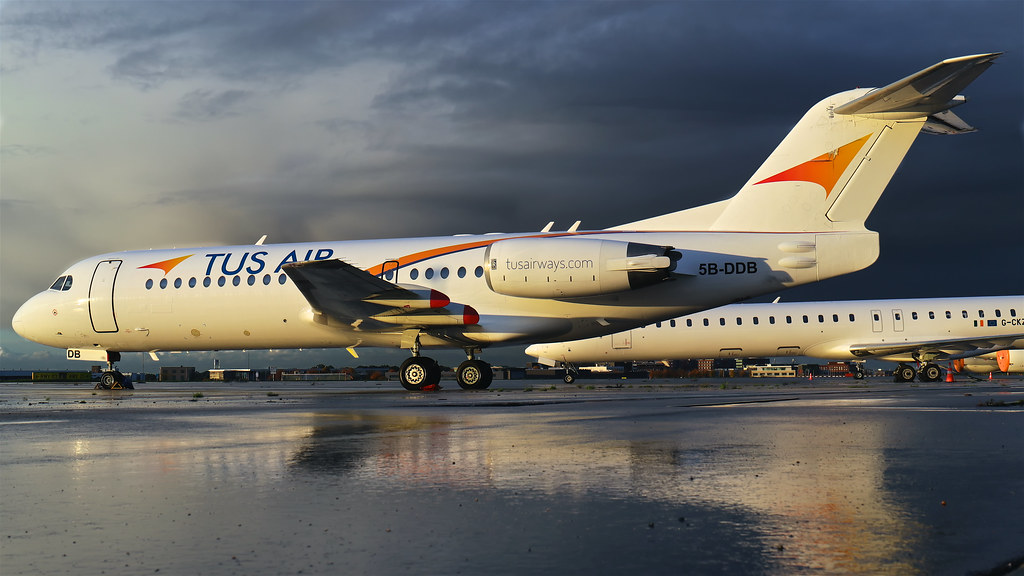 5B-DDB Tus Airways Fokker F70 - Maastricht Aachen Airport (EHBK/MST)