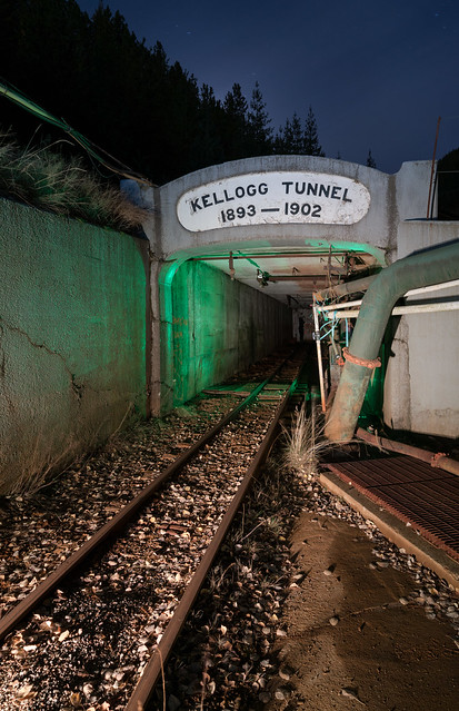 Kellogg Tunnel of the Bunker Hill Mine