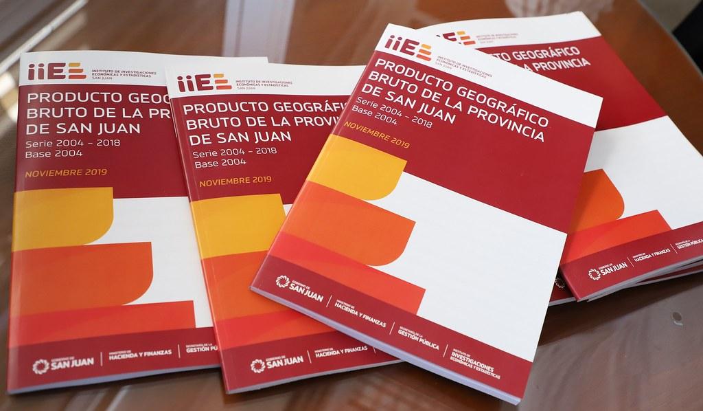 2019-11-07 PRENSA: Presentación del Producto Geográfico  Bruto de la Provincia de San Juan Periodo 2004 – 2018