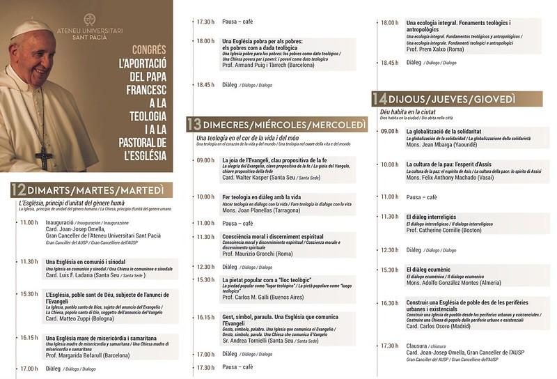 Programa del Congreso sobre el Papa