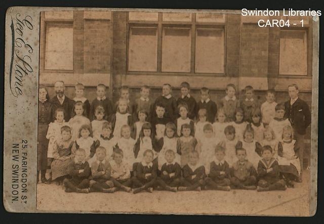 c.1899: Sanford Street School, Swindon (cabinet card)