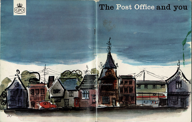 The Post Office and you; publicity booklet issued by the General Post Office, London, c1965 - cover by Stuart Rose FSIA
