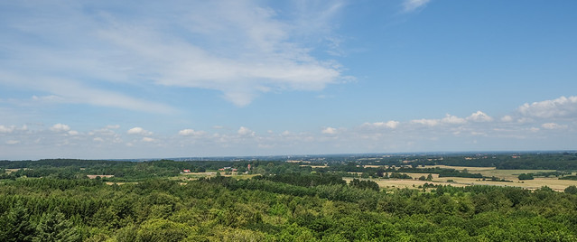Mid-Zealand Landscape seen from Forest Tower, Camp Adventure near Gisselfeld in Denmark
