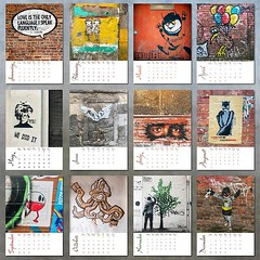 I've been making calendars since 2010 and for my 10th anniversary I'm delighted to present my 2020 Graffiti Calendar! It features twelve brand new, never before seen in my shop images. Street art from Porto, Thessaloniki, Manchester and Liverpool. (Clicka