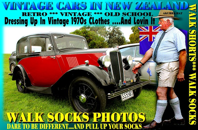 Vintage  Summer Walk socks car 5