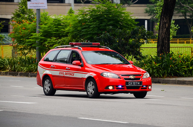 Singapore Civil Defence Force Chevrolet Optra Estate Inspection Vehicle (IV)