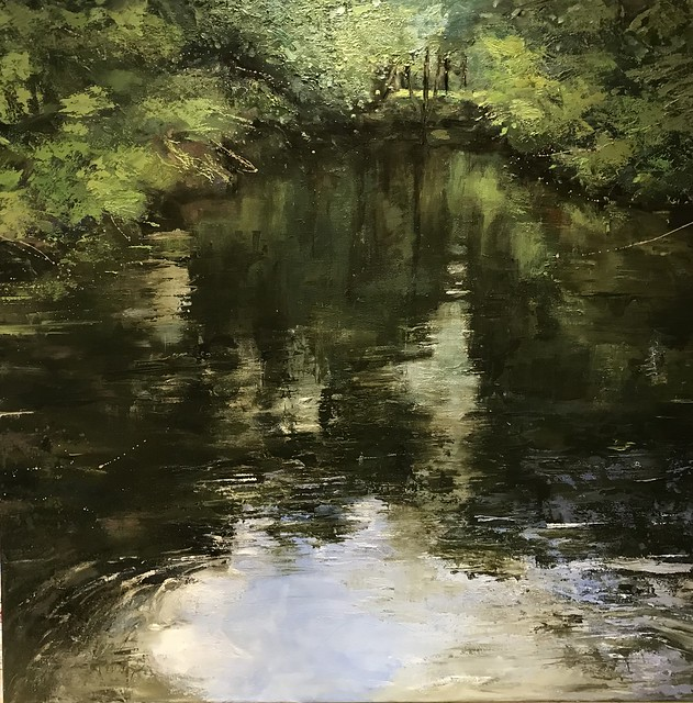 Reflecting I - oil on canvas - 76 x 76 cm - available