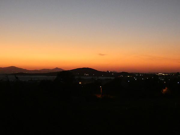 coucher de soleil impromptu