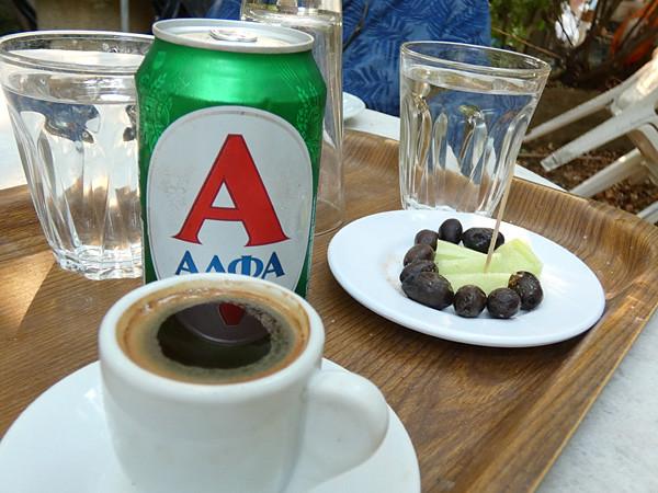 olives et café grec