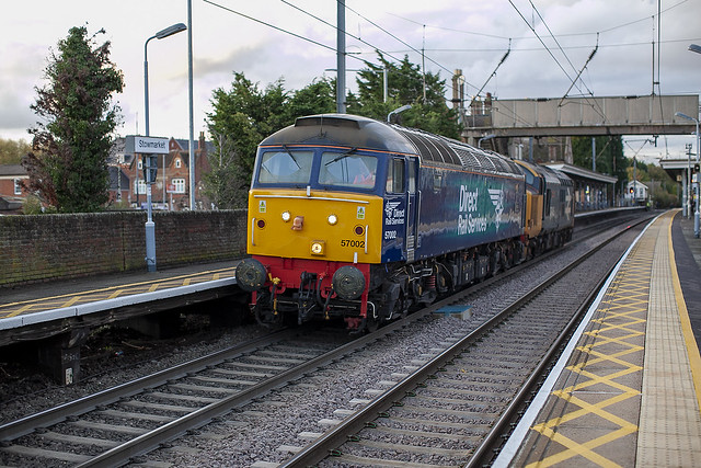 57002 at Stowmarket