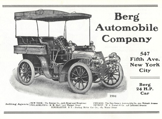 1904 Berg Touring Car With Top
