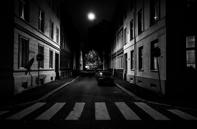 dark street at Majorstua