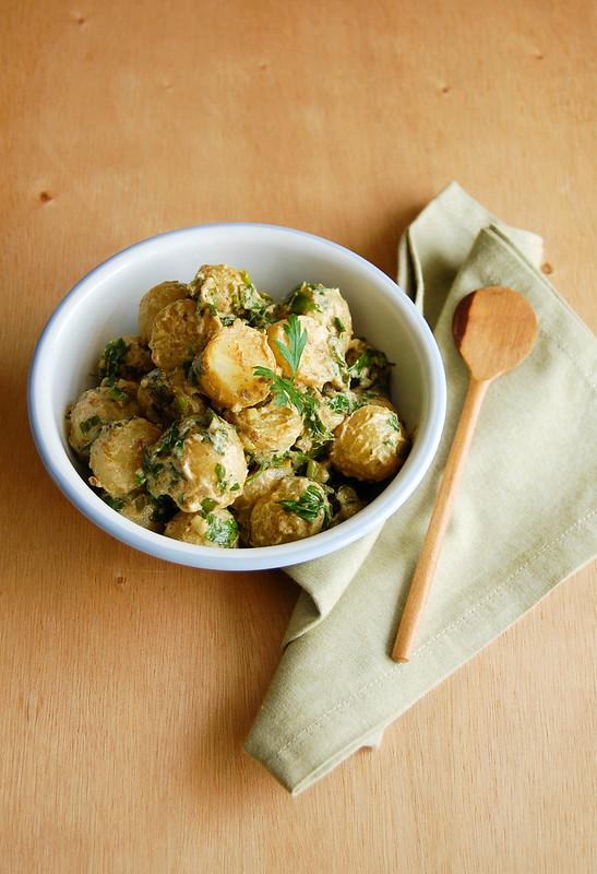 Salada de batatas com especiarias