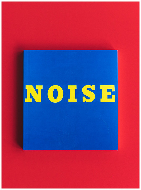 Noise - Blue and Yellow on Red