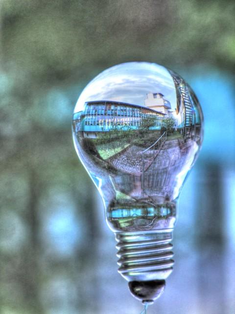University in a bulb