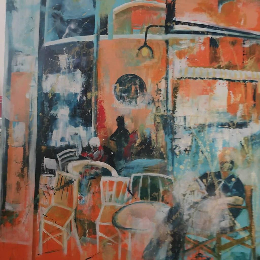 ציירת עכשווית מודרנית ישראלית פרימיטיבית אמנית האמנית הציירת  ליזה ברדוגו liza bardugo העכשווית המודרנית מודרניות המודרניות