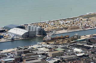 Shoreham Port aerial image