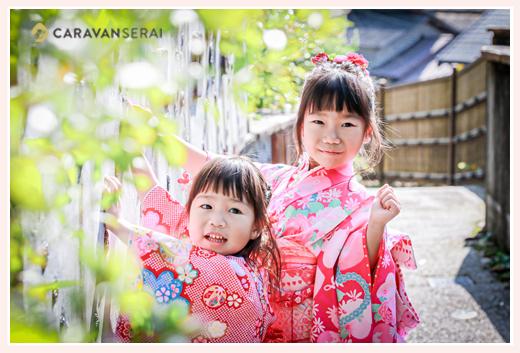 七五三のロケーション撮影 瀬戸市の窯垣の小径 女の子